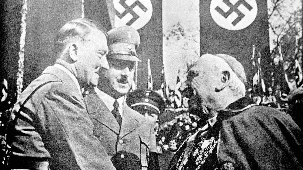 Images of Adolf Hitler meeting representatives of the Vatican were used in Nazi propaganda