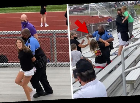 Maskless Woman Tased, Arrested Kid Football Game in Ohio
