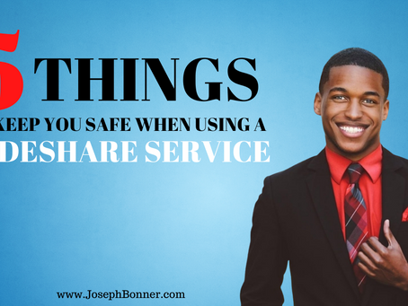 5 things to keep you safe when using a rideshare service