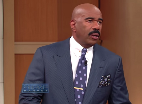 Steve Harvey Get's Schooled In Grammer By Guest and He's Not Having It