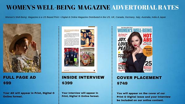 Women's Well-Being Magazine Advertorial