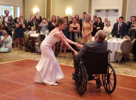 Daughter dances with terminally ill father on her wedding day