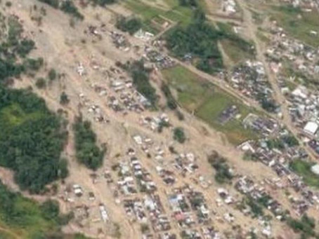 Disaster strikes Colombia Saturday leaving over 100  people dead and hundreds missing