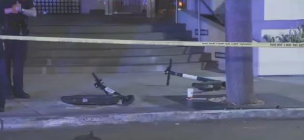 San Diego man dies from a motorized scooter into a tree