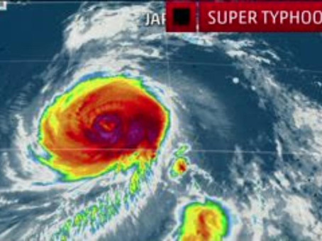 Typhoon Jebi strongest in 25 years