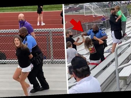 Maskless Woman Tased, Arrested Kid Football Game in Ohio