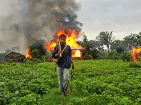 Violence in Myanmar;  20,000 flee to China for refuge