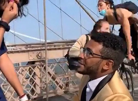 Brooklyn Bridge Marriage Proposal Ends In Cyclist Crash