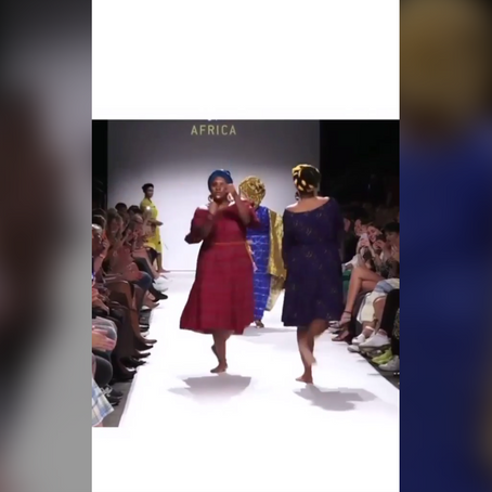 The only way to go down a fashion runway