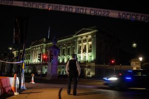 Attacker outside Buckingham Palace