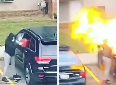 Michigan Woman Arrested After Video Setting Fire To Jeep Goes Viral