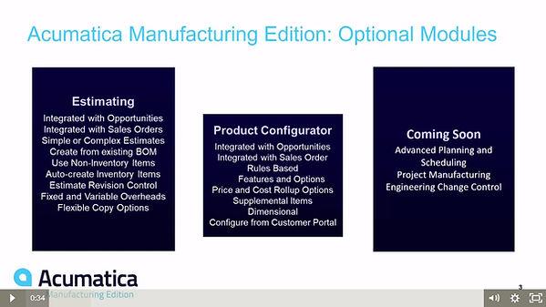Acumatica Manufacturing Advanced Edition