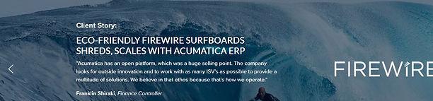Firewire Surfboards using Acumatica Manu