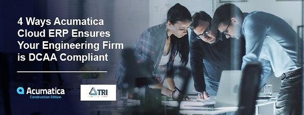 DCAA Compliance app by Acumatica VAR Tri