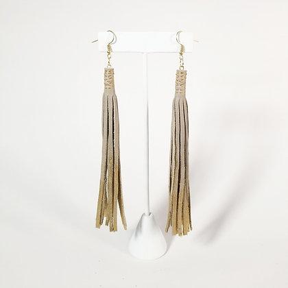 Long Half-Painted Earrings