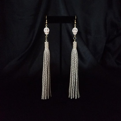 Extra Long Earrings with Skulls