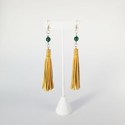 Painted Earrings with Bead