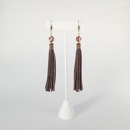 Long Earrings with Bead