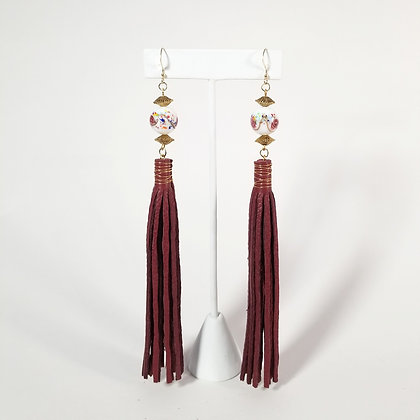 Extra Long Earrings with Bead