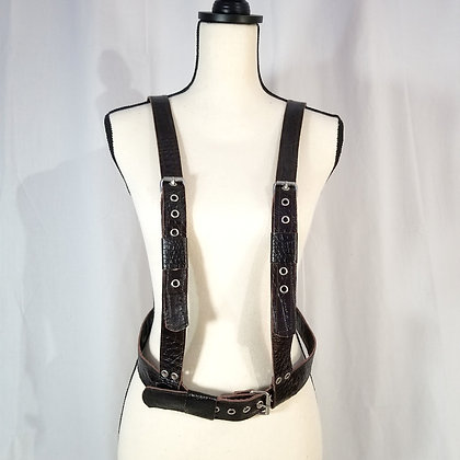 Suspender-Style Leather Harness