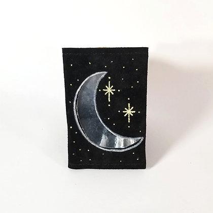 Moon//Stars Cut-out Pocket Journal