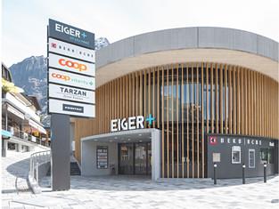 «Eiger+» Einkaufszentrum und Parking, Signaletik