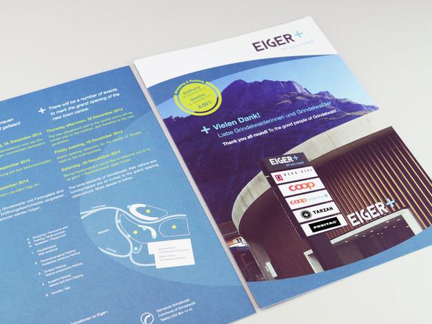 «Eiger+» Einkaufszentrum und Parking, Baukommunikation