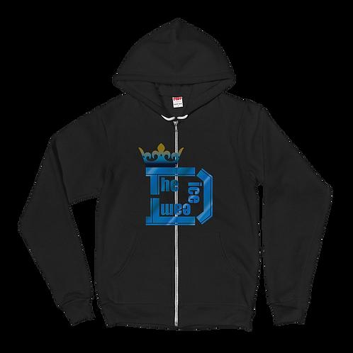 TDT King Logo ジップアップパーカー type Blue1