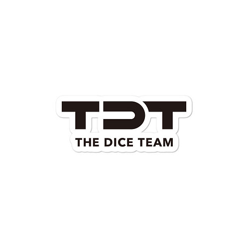 TDT logo Bubble-free stickers