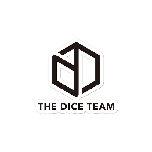 TDT Dice logo Bubble-free stickers