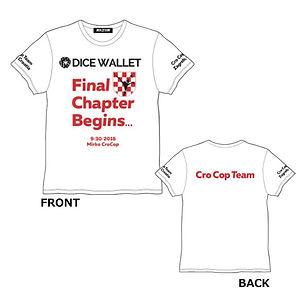 ミルコ・クロコップ ファイナルロード限定Tシャツ(White)