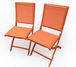 Folding Bistro Chair Orange close-cut .j
