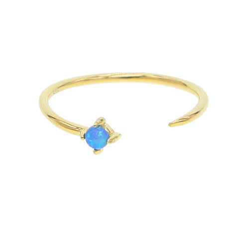 Blue Opal Dainty Ring