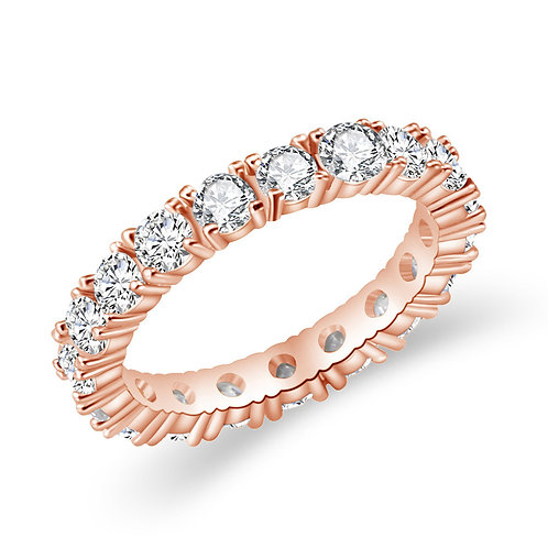 Round Cut Ring Rose Gold