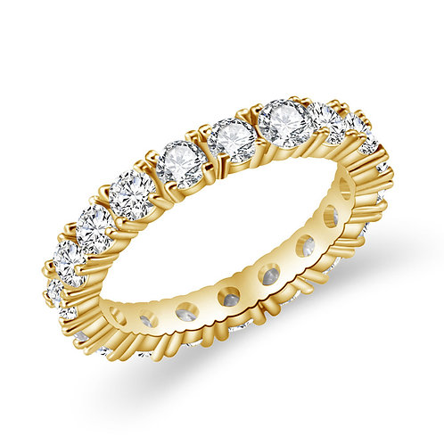 Gold Round Cut Ring