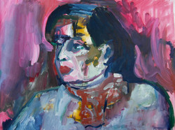 Portrait in violet.