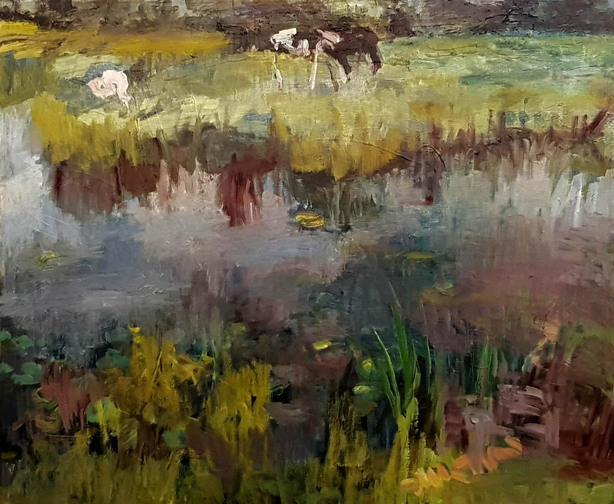 Koeien aan de Roosloot