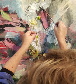 close-up of my flowerpainting