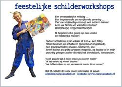 flyer schilderworkshops