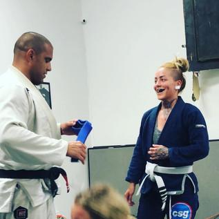 Blue belt received!