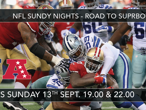 NFL SUNDAY NIGHTS - ROAD TO SUPERBOWL LIV