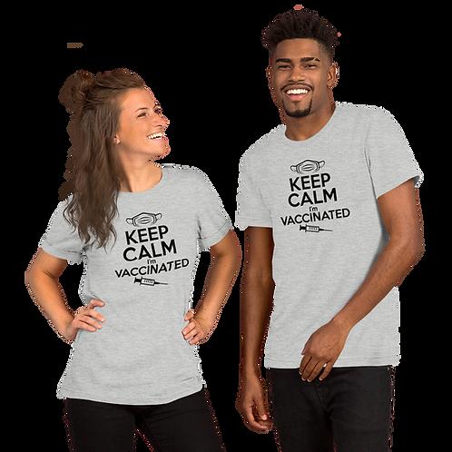 Keep Calm I'm Vaccinated Short-Sleeve Unisex T-Shirt