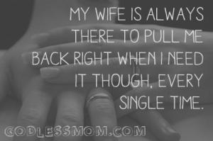 Atheist wife