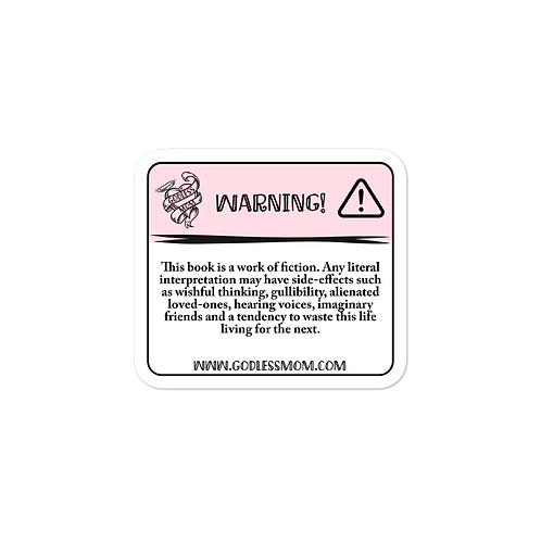 Bible Warning Bubble-free stickers