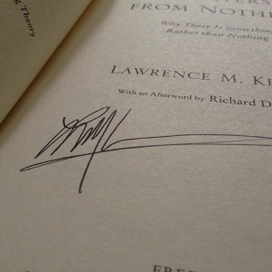 Lawrence Krauss' Signature