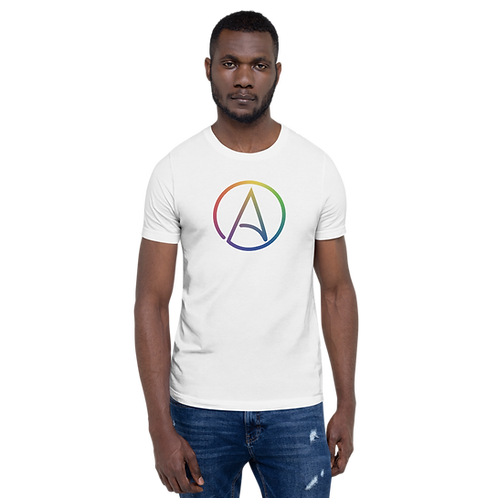 LGBTQ+ Atheist Symbol Short-Sleeve Unisex T-Shirt