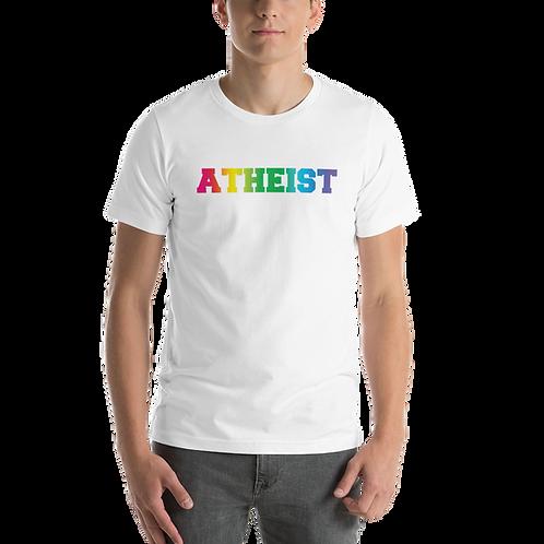 Atheist LGBTQ Rainbow Short-Sleeve Unisex T-Shirt