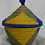 Thumbnail: Blue & Yellow Handwoven Basket From Uganda