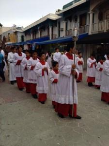 Catholic parade in Playa Del Carmen