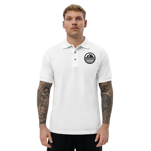 Gokanagan Black Logo Embroidered Polo Shirt